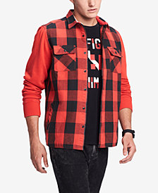 Tommy Hilfiger Denim Men's Bowery Classic-Fit Buffalo Plaid Shirt, Created for Macy's