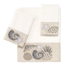 Avanti Shell Collection Embroidered Hand Towel