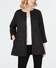 Eileen Fisher Cotton Metallic Open-Front Jacket, Regular & Petite