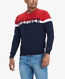 Tommy Hilfiger Men's Lief Colorblocked Logo Sweater, Created for Macy's