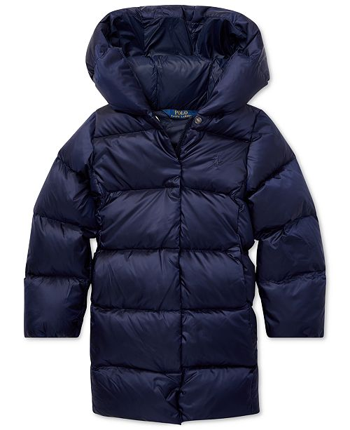389ef00ea Polo Ralph Lauren Toddler Girls Quilted Hooded Down Jacket - Coats ...