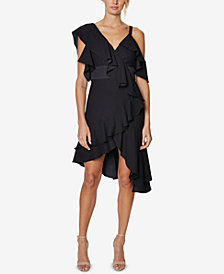 Laundry by Shelli Segal Asymmetrical Ruffled Dress
