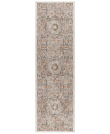 "KM Home Harper HA3102 Ivory 2'3"" x 7'3"" Runner Area Rug"