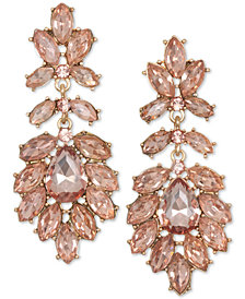 Jewel Badgley Mischka Gold-Tone Crystal Drop Earrings