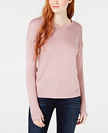 Hippie Rose Juniors' Embellished Sweater