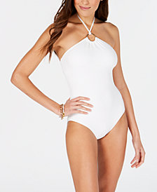 MICHAEL Michael Kors Logo-Ring One-Piece Swimsuit