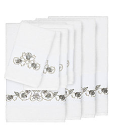 Linum Home Bella 8-Pc. Embroidered Turkish Cotton Bath and Hand Towel Set