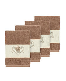 Linum Home Bella 4-Pc. Embroidered Turkish Cotton Washcloth Set