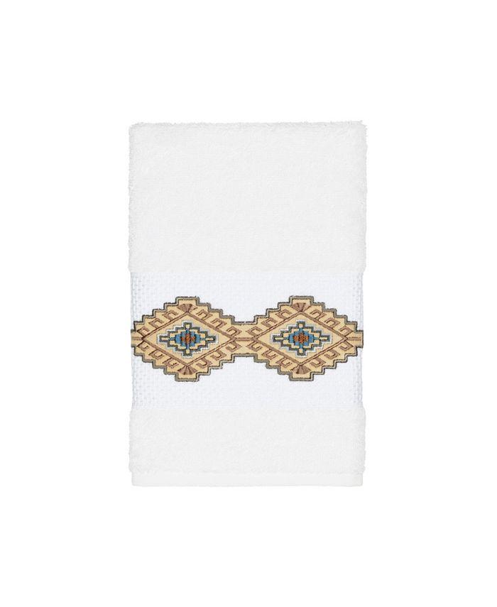 Linum Home - Gianna Embroidered Turkish Cotton Hand Towel