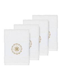 Isabelle 4-Pc. Embroidered Turkish Cotton Washcloth Set