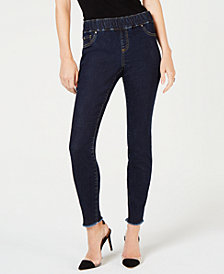 I.N.C. Petite Frayed Jeggings, Created for Macy's
