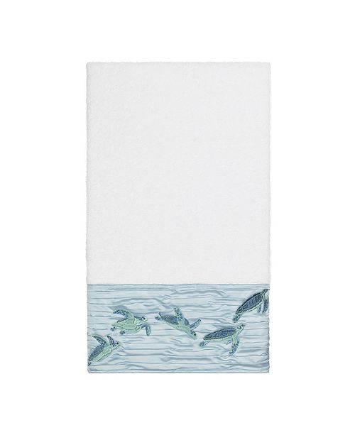 Linum Home Mia Embroidered Turkish Cotton Bath Towel