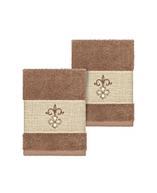Quinn 2-Pc. Embroidered Turkish Cotton Washcloth Set