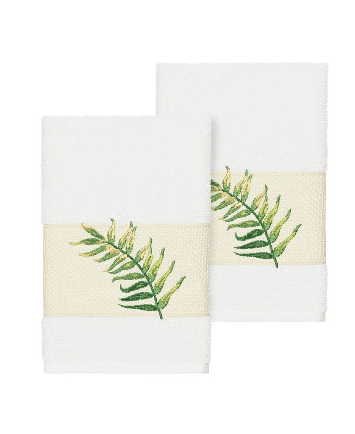 Linum Home - Zoe 2-Pc. Embroidered Turkish Cotton Hand Towel Set