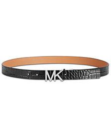 MICHAEL Michael Kors Croc-Embossed Reversible Belt