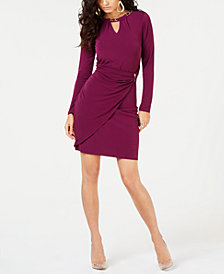 Thalia Sodi Embellished Faux-Wrap Dress, Created for Macy's