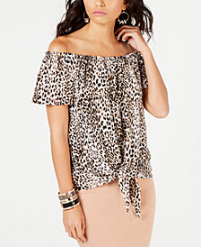 Thalia Sodi Printed Off-The-Shoulder Top, Created for Macy's