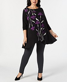 Plus Printed High-Low Tunic Collection, Created for Macy's