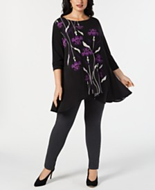 Alfani Plus Printed High-Low Tunic Collection, Created for Macy's