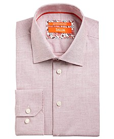 Men's Slim-Fit Non-Iron Performance Stretch Textured Solid Dress Shirt