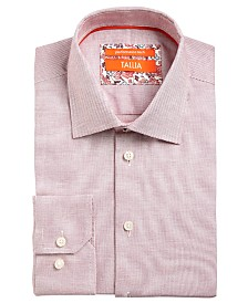 Tallia Men's Slim-Fit Non-Iron Performance Stretch Textured Solid Dress Shirt