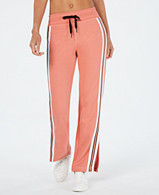 Calvin Klein Performance Striped Slit-Leg Pants