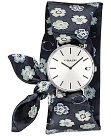 COACH Women's Perry Tea Rose Satin Scarf Wrap Watch 36mm Created for Macy's