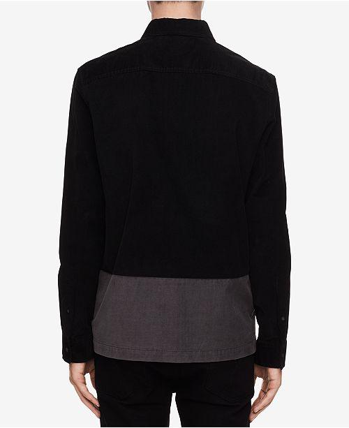 34037bb8bf1 Calvin Klein Jeans Men s Colorblocked Corduroy Shirt   Reviews ...