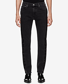 Calvin Klein Jeans Men's Slim-Fit Side Stripe Jeans, Created for Macy's