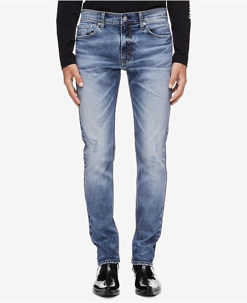 5a83ccf0737 Calvin Klein Jeans Men's Slim-Fit Jeans & Reviews - Jeans - Men - Macy's