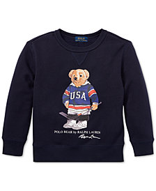 Polo Ralph Lauren Little Boys Hockey Bear Fleece Sweatshirt