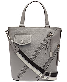 DKNY Jagger Leather Bucket Crossbody, Created for Macy's