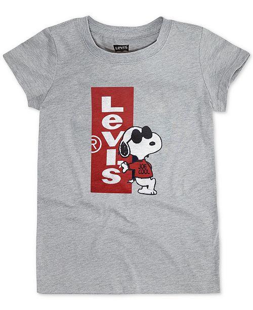 9ce4c441d5a597 Levi's Toddler Girls Joe Cool Snoopy T-Shirt & Reviews - Shirts ...
