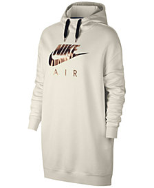 Nike Sportswear Metallic-Logo Oversized Fleece Hoodie