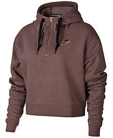 Nike Sportswear Fleece Metallic-Logo Half-Zip Hoodie