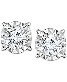 Diamond Stud Earrings (3/4 ct. t.w.) in 14k White Gold