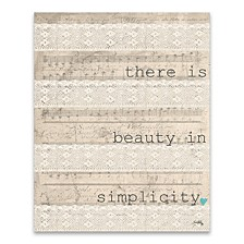 """There Is Beauty Printed Canvas Art - 16"""" W x 20"""" H x 1.25"""" D"""