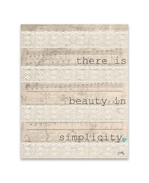 """Artissimo Designs There Is Beauty Printed Canvas Art - 16"""" W x 20"""" H x 1.25"""" D"""