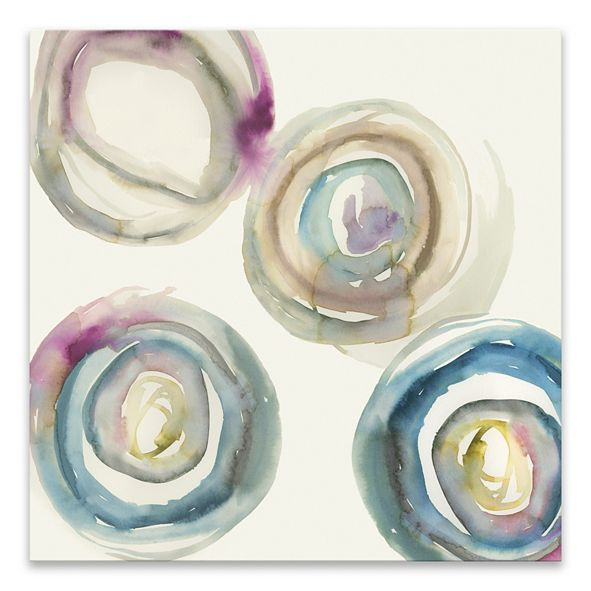 """Artissimo Designs Power Ring I Hand Embellished Canvas Art - 24"""" W x 24"""" H x 1.25"""" D"""