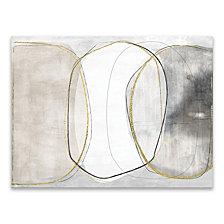 Circular Light Hand Embellished Canvas