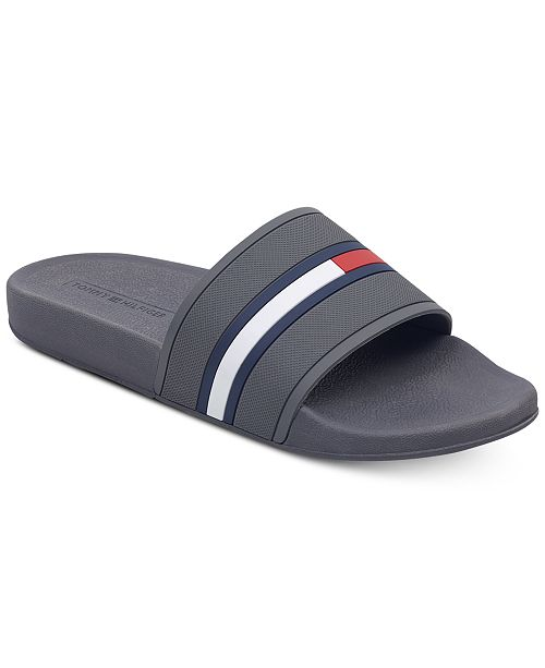 189981b6b5bbb4 Tommy Hilfiger Men s Ennis Slide Sandals   Reviews - All Men s ...
