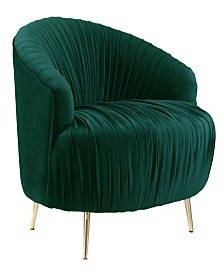 Penelope Ruched Accent Chair