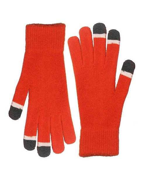 MinxNY Micro Velvet Orange Touch Screen Gloves With Glow Tips