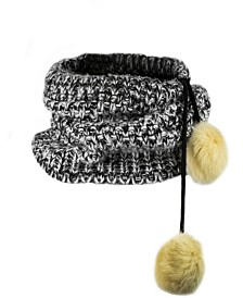 Black Sweater 2-in-1 Hat & Neck Cuff