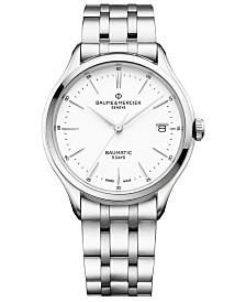 Baume & Mercier Men's Swiss Automatic Clifton Baumatic Stainless Steel Bracelet Watch 40mm