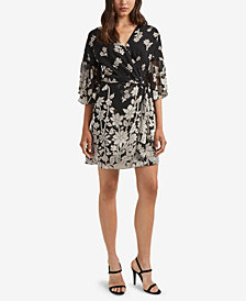 French Connection Belted Faux-Wrap Dress