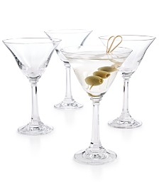 CLOSEOUT! Martha Stewart  Collection Set of 4 Martini Glasses, Created for Macy's