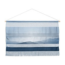"Ingrid Beddoes Hazy Morning Blues Wall Hanging Landscape, 47""x34"""