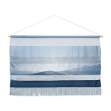 "Deny Designs Ingrid Beddoes Hazy Morning Blues Wall Hanging Landscape, 47""x34"""