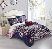 Lively 8 Pc Queen Duvet Cover Set